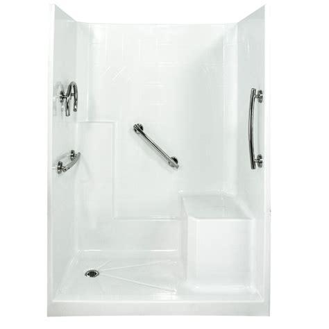 fiberglass bathroom walls shop ella s bubbles white gelcoat and fiberglass shower