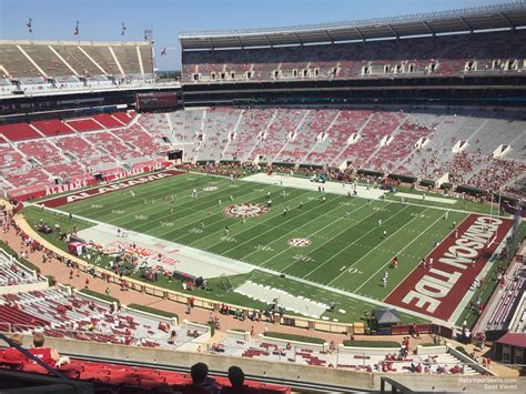 section 3c bryant denny stadium section u3c rateyourseats com