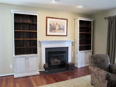 fireplace with shelves on each side custom bookcases made to fit on either side of fireplace