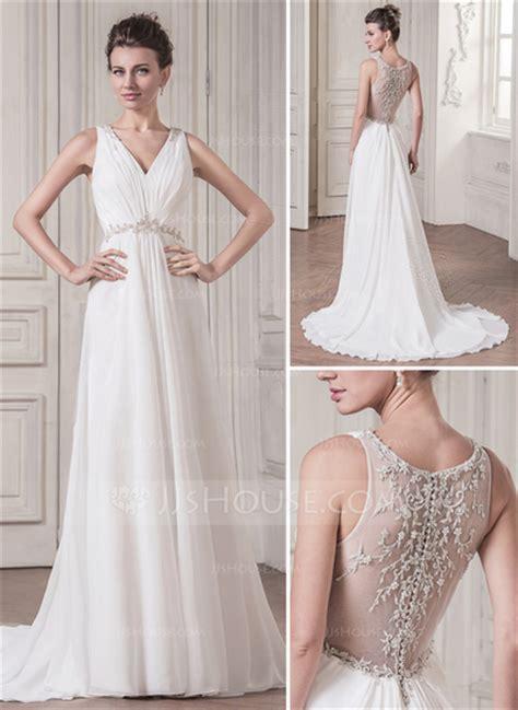 V Neck Sequins Set Topskorts White Pink Size Ml A Line Princess V Neck Court Chiffon Wedding Dress