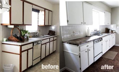 how to refinish laminate cabinets splendid painting formica cabinets before and after