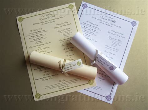 Ceremony Scrolls   Buy Wedding Ceremony Scrolls In Ireland
