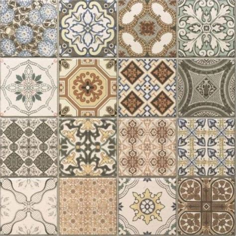 Patchwork Tiles - an exle tile from the and patchwork provence