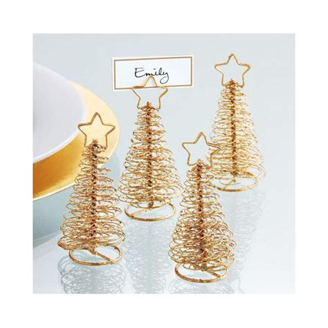 gold wire christmas tree place card holders photos