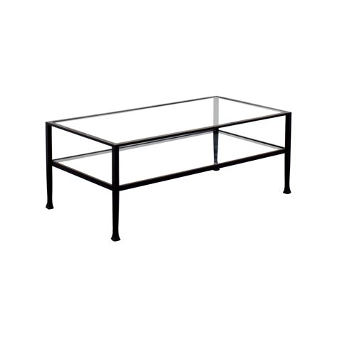51 rectangle metal and glass coffee table tables