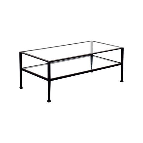 Rectangle Glass Coffee Table 51 Rectangle Metal And Glass Coffee Table Tables