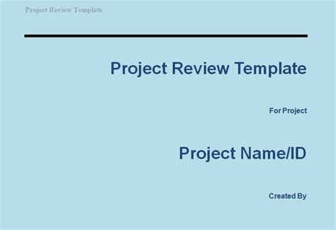project review template get project review template projectemplates