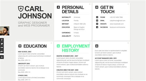 html resume templates creative web html resume template web html resume