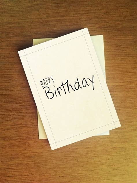 What To Write On Birthday Card Envelope Happy Birthday Simple Minimalistic Birthday Card By