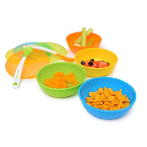 Munchkin 4pc Stack A Bowls Baby Bowl Snack Holder Mangkok Makan Bayi 22 munchkin a bowls yellow green blue ca baby