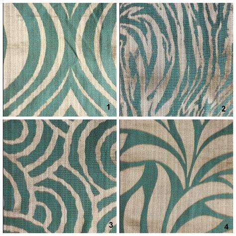 contemporary animal print curtains aqua blue silver