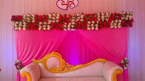 Simple Home Decoration For Engagement Madurai Decorators Wedding And Engagement Stage Decoration