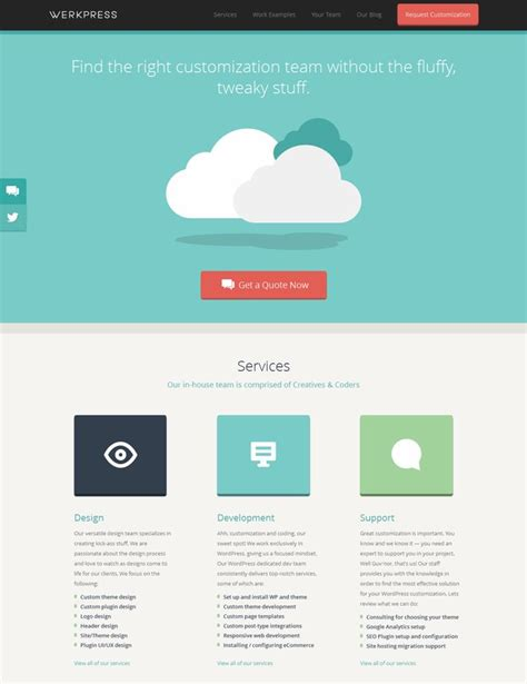 homepage design inspiration 20 flat web design inspiration