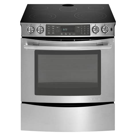 electric induction slide in range jenn air jes8850cas 30 quot slide in electric range w convection jes8850ca sears outlet