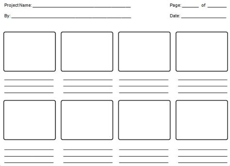 storyboard template word free storyboard template the knownledge