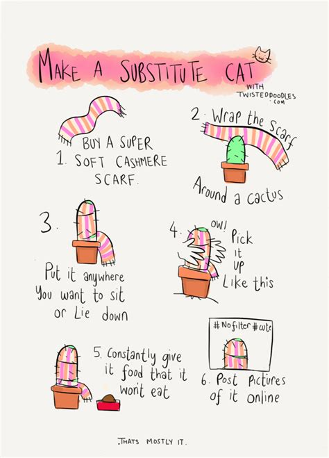 lifehacker doodle twisteddoodles how to make a substitute cat