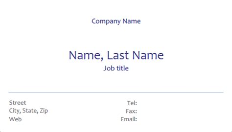 free business card template fillable pdf forms