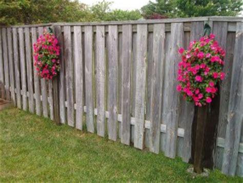 hanging flower pots for fences garden pinterest