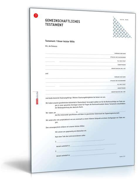 Muster Und Vorlagen Für Trauerkarten Testament Vorlage Pdf Vorlagen Komplett