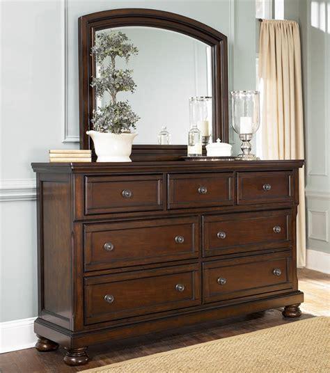 bedroom furniture combo ashley furniture porter 7 drawer dresser mirror combo