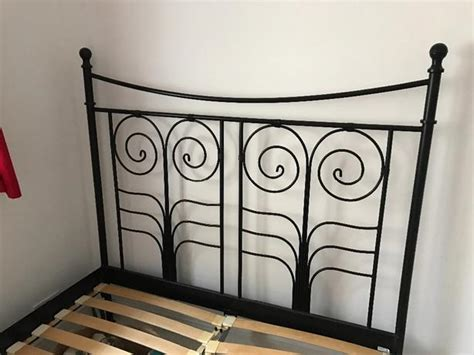 ikea wrought iron bed black wrought iron ikea double bed stead sedgley dudley