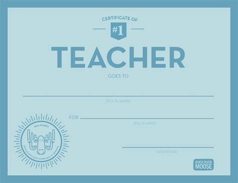 teacher appreciation certificate template gallery