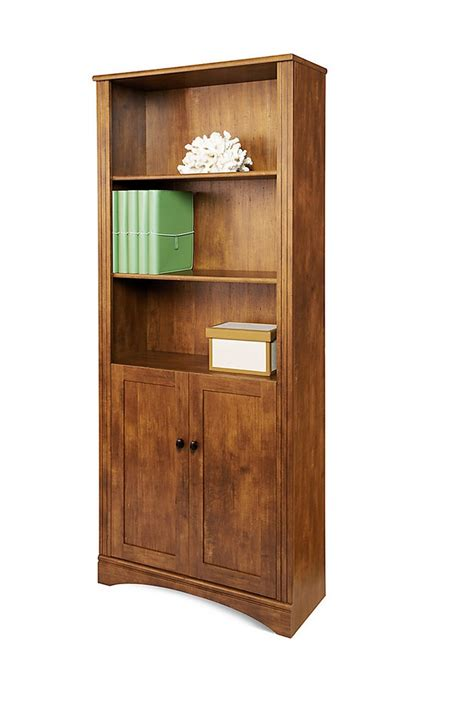 2 Shelf Bookcase With Doors Realspace Dawson Outlet 5 Shelf Bookcase With Doors 72 Quot H X 30 1 2 Quot W X 11 3 5 Quot D Brushed Maple