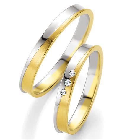 Trauringe 585 Gold by Bicolor 585 Gold Eheringe Trauringe Breuning 48 04231