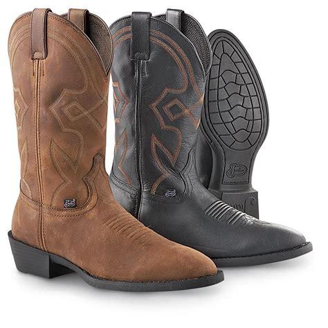 mens justin cowboy boots s justin 174 western boots 191006 cowboy western