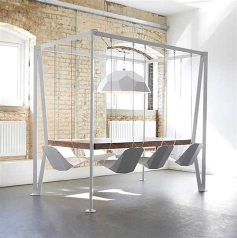 room swing chair playful swing table design adding fun to dining room
