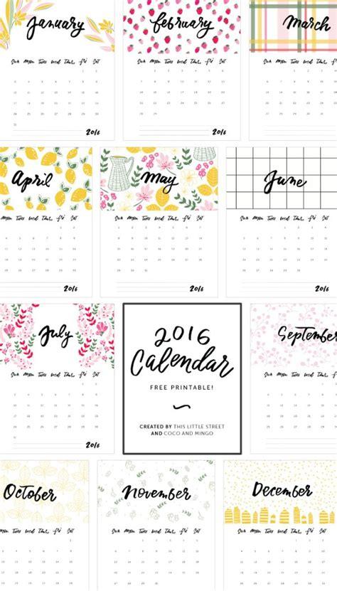 Calend Pis 2016 16 Free 2016 Printable Calendar