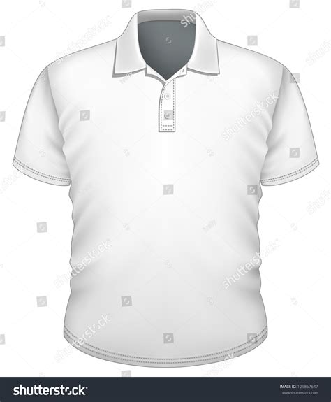 vector mens poloshirt design template front stock vector