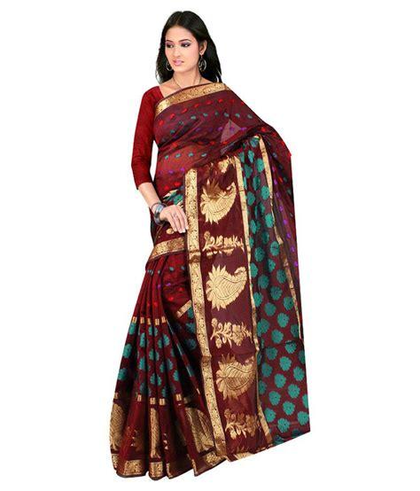 Fashion Maroon the lugai fashion maroon cotton silk saree buy the lugai