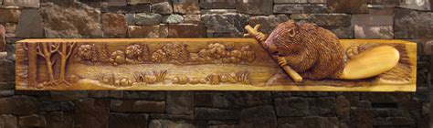 wildlife carved fireplace mantels wood wooden thing to frame or not to frame woodcarving illustrated