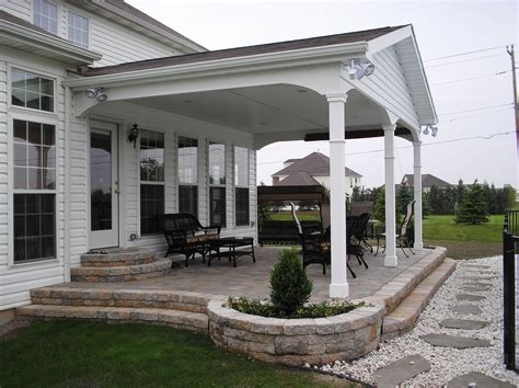 ideas for covered back porch on single story ranch covered back porch build off detached garage perhaps