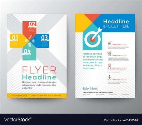 Brochure Flyer Graphic Design Layout Template Vector Image Graphic Flyer Templates Free