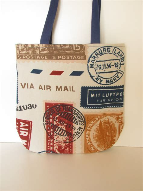 gifts by mail tote bag gift for travelling air mail travel bag by olganna