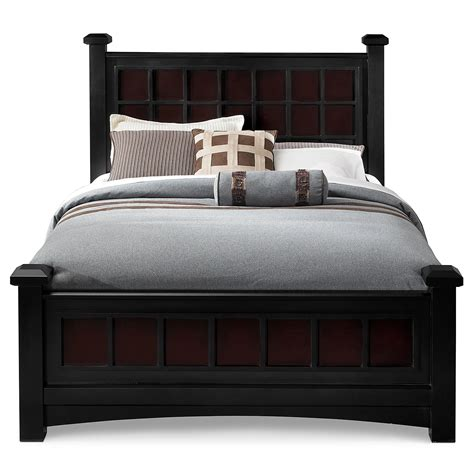winchester king bed black and burnished merlot value