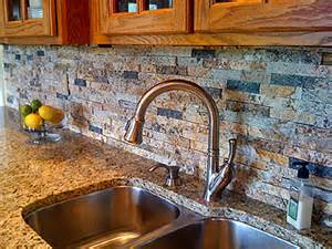 recycled granite split backsplash