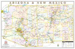 wide world of maps arizona arizona and new mexico political wall map by wide world of