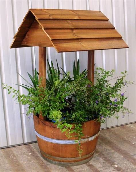 Barrel Planter Combo by I The Combination Of The Traditional Wishing Well