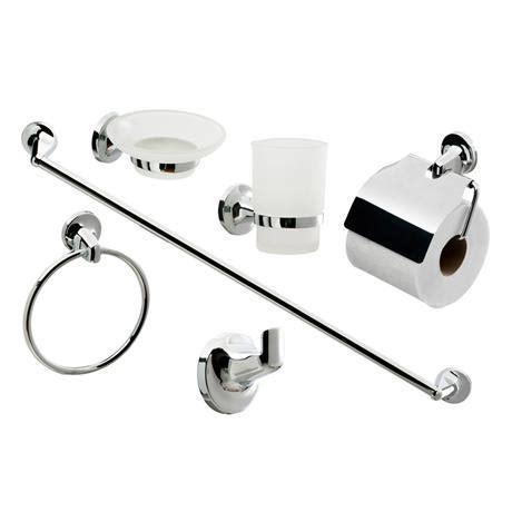 Modern Bathroom Accessories Uk by Modern 6 Bathroom Accessory Set At Plumbing Uk