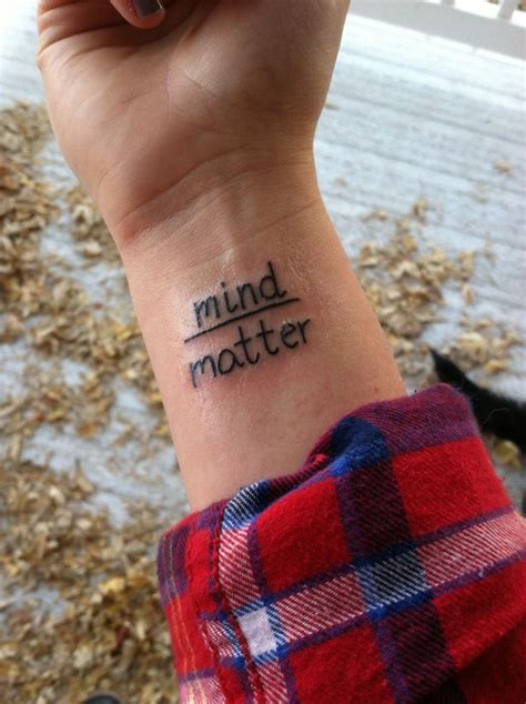 mind tattoo mind matter wrist tattoos
