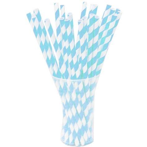 light blue paper straws light blue striped paper straws 25ct paper straws