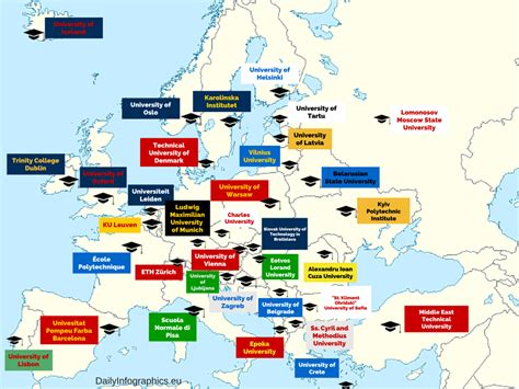 Best Mba Programs Europe 2014 by Top Universities In European Countries Daily Infographics