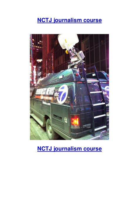 Journalism Courses by Nctj Journalism Diploma Courses
