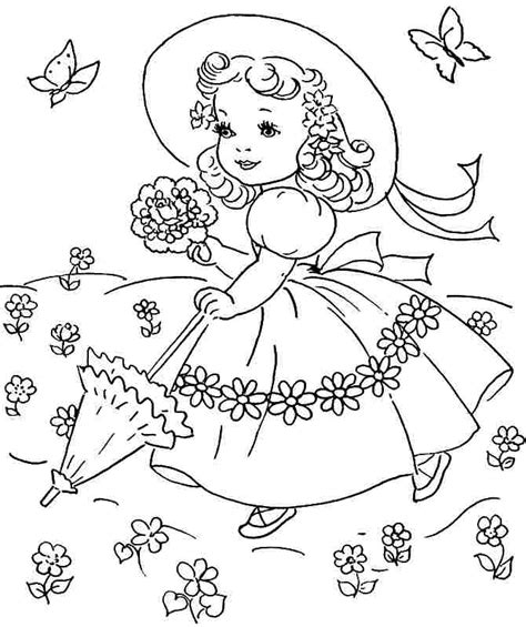 free spring pictures az coloring pages