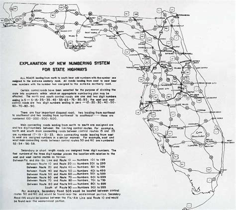 state of florida road map southeast roads aaroads evolution of florida state roads