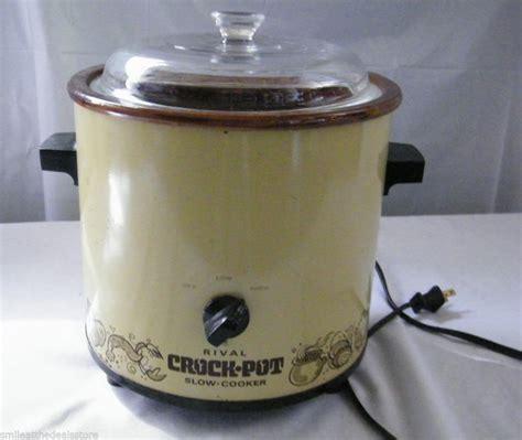 Rival Crock Pot by Vintage Rival Crock Pot Cooker Avocado Green Glass
