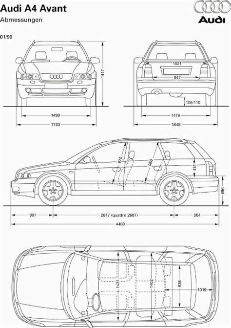Abmessung Audi A4 Avant by Wa4b5